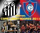 Santos FC - Cerro Porteño. Halbfinale der Copa Libertadores 2011