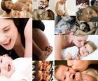 Mütter mit Kindern