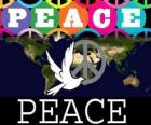 Antikriegstag. Weltfriedenstag. 21. September ist für den Frieden und die Abwesenheit von Krieg gewidmet