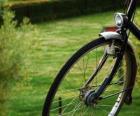Vorderrad von einer Radtour