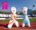 Die Maskottchen der Olympischen Spiele und Paralympics 2012 London sind Wenlock und Mandeville