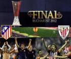 Atlético Madrid gegen Athletic Bilbao. Europa League 2011-2012 Finale im Nationalstadion in Bukarest, Rumänien