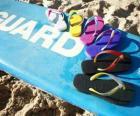 Flipflops Sandalen an den Sommer genießen