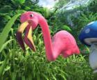 Featherstone, eine einsame flamingo