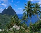 Die Pitons, Santa Lucia Insel