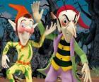 Sly und Gobbo, der schelmische Kobolde in Noddy Abenteuer