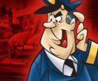 Officer Dibble, der Polizist nach der Gasse Top Cat und seine Bande sieht