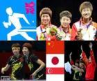 Tischtennis Damenmannschaft London 2012