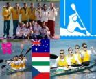 Kanu Sprint K4 1000 m Podium, Australien, Ungarn und Tschechien, London 2012