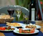 Tabelle mit Lebensmittel