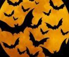Fledermaus für die Feier von Halloween