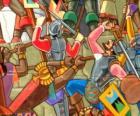 Krieger Kämpfe Inca