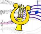 Harfe, Zeichnung