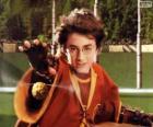 Harry Potter wirft einen ball