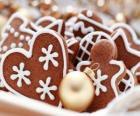 Weihnachtsplätzchen in einer Vielzahl von Formen