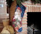 Christmas Sock hing an den Schornstein