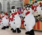 Tanzende Schneemänner