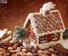 Süß und ziemlich ein Lebkuchenhaus