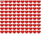 100 Herzen, hundert Herzen zu feiern Valentinstag, Tag der Liebenden