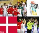 Dänemarks bei 2013 Handball WM Silber Medaille