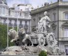 Brunnen der Cibeles, Madrid, Spanien