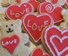 Kekse zum Valentinstag feiern