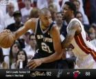 2013 NBA Finals, 1. match, San Antonio Spurs 92 - Miami Heat 88