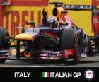 Sebastian Vettel feiert seinen Sieg in der Großer Preis von Italien 2013