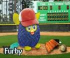Furby spielt baseball