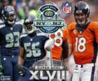 Super Bowl-2014. Seattle Seahawks Vs Denver Broncos. MetLife Stadium, New Jersey, USA, 2. Februar 2014