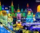 Harbin Eis und Schnee Skulpturen Festival, China