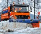 Der Schneepflug LKW
