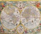 Historische Karte der Welt