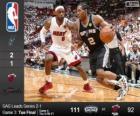 2014 NBA Finals, 3. Match, San Antonio Spurs 111 - Miami Heat 92