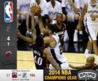 2014 NBA Finals, 5. Match, Miami Heat 87 - San Antonio Spurs 104