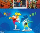 Ole und Hop, Maskottchen der die 2014- Basketball-Weltmeisterschaft