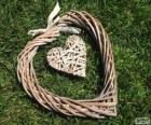 Herz aus rattan