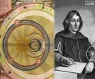 Nikolaus Kopernikus (1473-1543), polnischer Astronom, die heliozentrische Theorie des Sonnensystems formuliert
