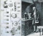 Antoine Lavoisier (1743-1794), französischer Chemiker, betrachtet der Schöpfer der modernen Chemie