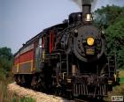 Lokomotive des ein Dampfzug