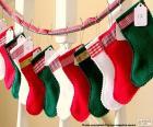 Weihnachten Socken in verschiedenen Farben