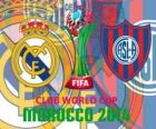 Real Madrid gegen San Lorenzo. Finale FIFA-Klub-Weltmeisterschaft 2014 Marokko