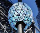 Die Kugel des neuen, Times Square, Manhattan, New York