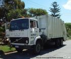 Weißen Müllwagen
