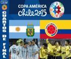Viertelfinale, Argentinien vs Kolumbien, Copa America Chile 2015