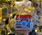 Glaskugel für Weihnachten