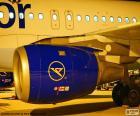 Strahltriebwerke verwendet auf kommerzielle Flugzeuge durch ihre große Autonomie und Geschwindigkeit