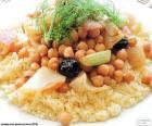 Couscous mit Kichererbsen und Gemüse