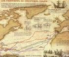 Reisen von Christoph Kolumbus, hat insgesamt vier Reisen nach Amerika 1492 bis 1502