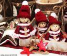 Drei Weihnachten Puppen